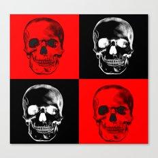 Red/Black SKULL Canvas Print