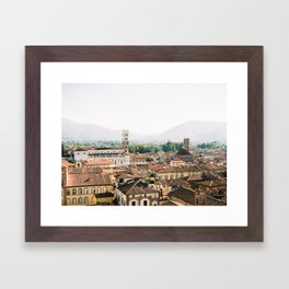 Lucca | Travel photography Italy | Wanderlust city architecture photo art | Tuscany Framed Art Print