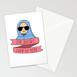 Mean Girls - She doesn't even go here Stationery Cards