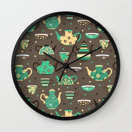 Tea pattern. Wall Clock