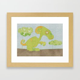 Kangaroo Go-Go Green Framed Art Print