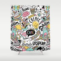 notebook Shower Curtains featuring Everyday by Anna Alekseeva kostolom3000
