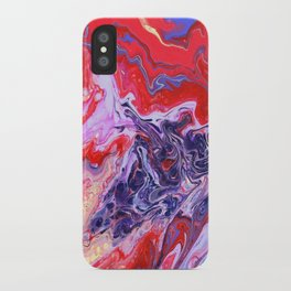 Red and Purple Cosmos iPhone Case