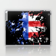 Frank Underwood  |  House Of Cards  |  Red, White & Blue Blood Spatter Laptop & iPad Skin