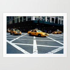 New York City Taxi Art Print