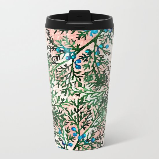Botanical Watercolor Art #society6 #decor #buyart Metal Travel Mug