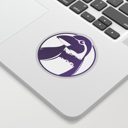 Purple Penguin Sticker