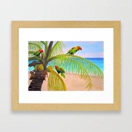 Parrot Beach Framed Art Print
