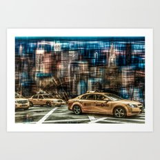 NYC - Yellow Cabs Art Print