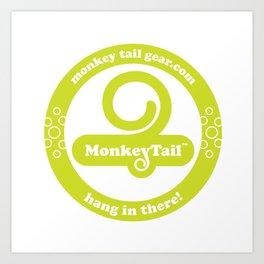 Monkey Tail Gear Logo - 002 Green Art Print