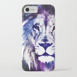 Purple Lion iPhone Case