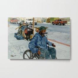 Homeless Series 1 ~ Sunset Blvd., Los Angeles, CA. Metal Print