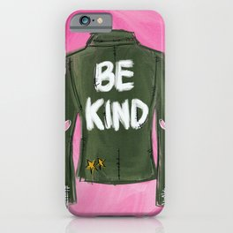 Be Kind Fashion Print iPhone Case