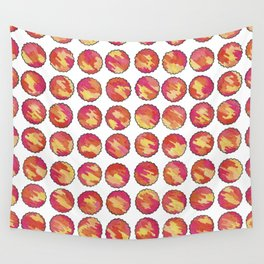 'In the Sunshine' Pink, Orange and Gold abstract pattern Wall Tapestry