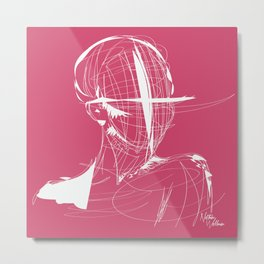 HUMAN (pink) Metal Print