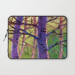 Poplars in winter at the sunset Laptop Sleeve