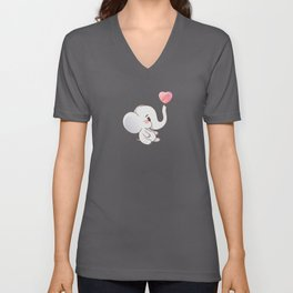 Sweet Elephant Baby Unisex V-Neck
