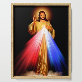 Jesus Divine Mercy I trust in you Religion Religious Catholic Christmas Gift Serving Tray