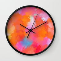 blush Wall Clocks featuring blush by Lasse Egholm