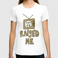 tv T-shirts featuring tv by gasponce