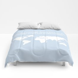 Dr. Seuss inspirational quote with earth outline Comforters
