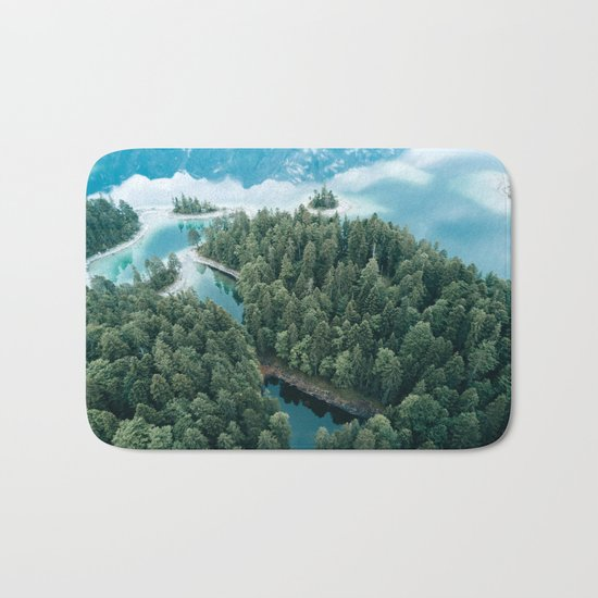 Mountain in a Lake - Landscape Photography Bath Mat