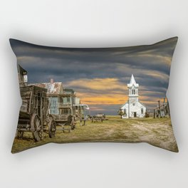 Western 1880 Town Rectangular Pillow