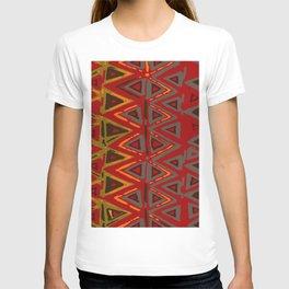 Aztec Fire Ritual Batik T-shirt