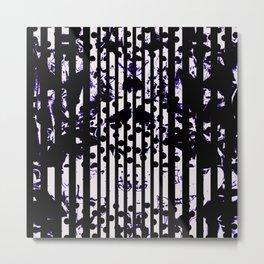 Floral Stripes & Spots Metal Print
