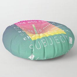 A neurotic is one who can't change his mind and won't change the subject. Floor Pillow