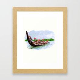 Snake Boat Race- Kerala - 135 Framed Art Print