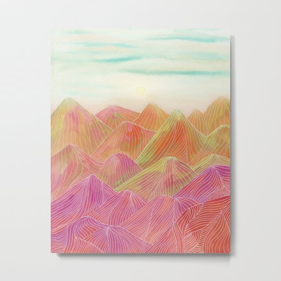 Lines in the mountains XVIII Metal Print