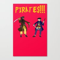 pirates Canvas Prints featuring Pirates!!! by Michael Keene
