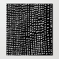 dots Canvas Prints featuring Dots by Marie Yates