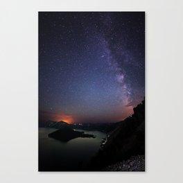 Crater Lake Galaxy Canvas Print
