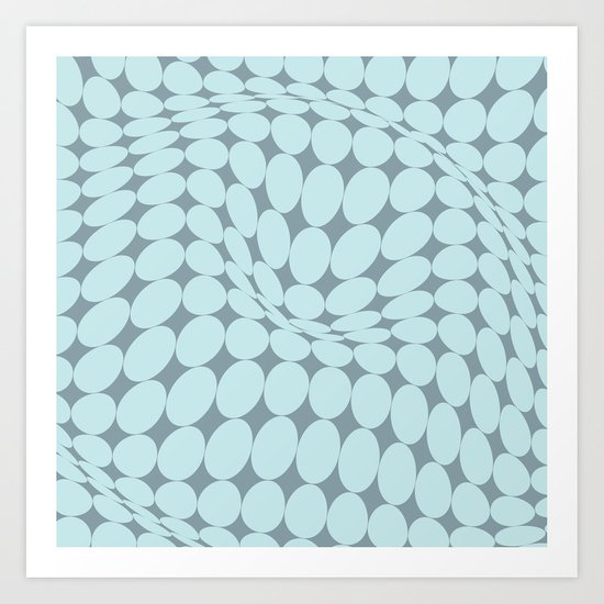 Swirling Points - Optical game 22 Art Print