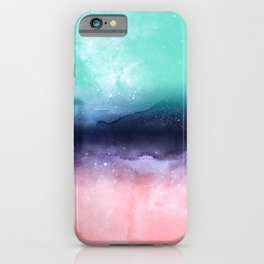 Modern watercolor abstract paint iPhone Case