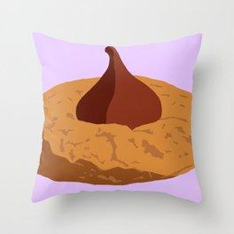Peanut Butter Drop Cookie Throw Pillow