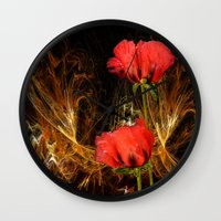 passion Wall Clocks featuring Passion by LudaNayvelt