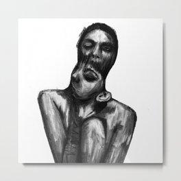 Surreal Distorted Portrait 01 Metal Print