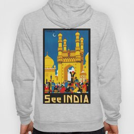 Vintage Hyderabad India Travel Poster Hoody