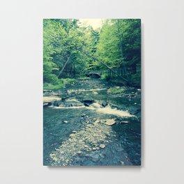 Follow Peaceful Waters Metal Print