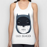 old school Tank Tops featuring old school by Louis Roskosch