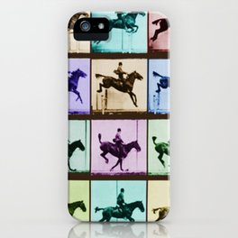 Time Lapse Motion Study Horse And Rider Color iPhone Case