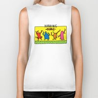 keith haring Biker Tanks featuring Haring Time by le.duc