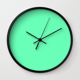 Spring - Pastel - Easter Green Solid Color 3 Wall Clock