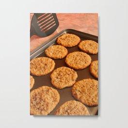 Chocolate Chip Cookies on a Pan Metal Print
