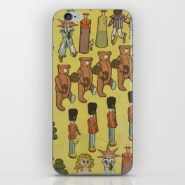 Vintage Christmas Toys and Nut Crackers (1906) iPhone Skin