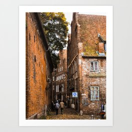 Medieval Streets Art Print