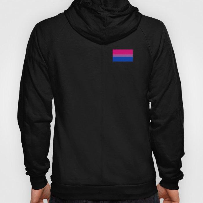 Gay Pride LGBT Bisexual Bi Rainbow Tiny Flag 2018 Hoody